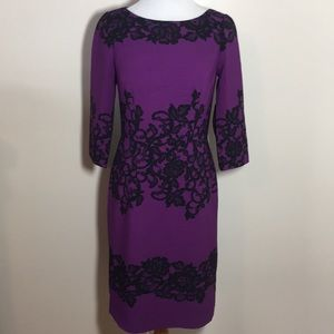 Adrianna Papell lace design dress